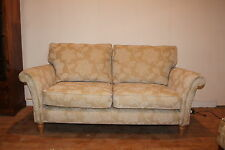 Parker Knoll, Mulberry, 3 Seater Sofa in Gold Floral Fabric