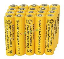 20AAA Rechargeable Batteries NiCd 600mAh 1.2v Garden Solar Ni-mh Light Nimh Lamp