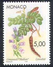 Mónaco 1996 Bellflower/Algarrobo/flores/fruta/plantas/naturaleza 1v (n40160)