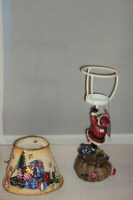 Santa resin lamp candle holder metal Christmas