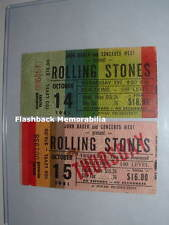 2 ROLLING STONES 1981 GLOBE Concert Ticket Stub Lot SEATTLE KINGDOME Very Rare