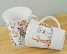 2 Stück Kaffee Tee Becher Büro Tasse 10 cm HUNDE Porzellan Spülmaschinenfest