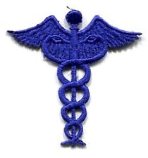 NURSE CADUCEUS BLUE IRON ON APPLIQUE