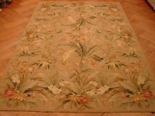Tropical 6x9 Floral HANDMADE Chinese Needlepoint Rug