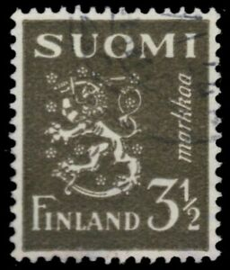 """FINLAND 176A - Finnish Lion """"1942 Olive"""" (pa7284)"""