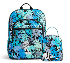 NWT Vera Bradley Large Campus Backpack & Lunch Box Bunch in Camofloral