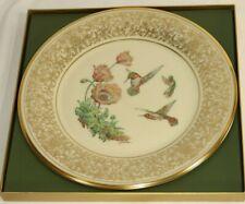 1974 Lenox Boehm Bird Plate Rufous Hummingbird Coa & Box Mint