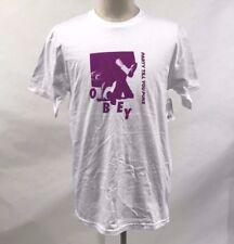 Obey Men's T-Shirt Party White Size M NWT Shepard Fairey Dancing