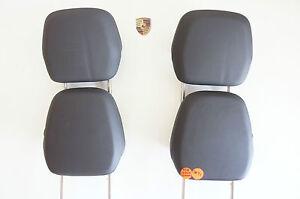 Porsche 958 Cayenne Headrest Basissitz Seat Head Set 4-teile Leather Black