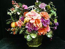 FACTORY SALE - LARGE JADE FRUITS & FLOWERS BASKET (99-12)