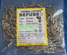 10pcs SF226E SEFUSE Cutoffs NEC Thermal Fuse 227°C Celsius Degree 10A 250V