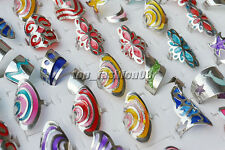 20pcs Wholesale Lots Retro Fashion Drip Oil multicolor Alloy Adjustable Rings