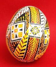 Exclusive nice Easter Ukrainian blown real chicken egg eggs pisanka pysanka NEW