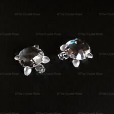 RARE Retired Swarovski Crystal Set of 2 Baby Tortoises Turtles 220960 Mint Boxed