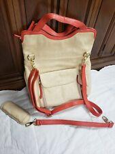 Kelly Moore The Steph Camera Bag Leather Backpack Beige Orange