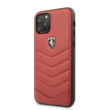 FERRARI iPhone 11 Pro Max Heritage Collection Genuine Leather Hülle Case Rot