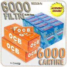 6000 Cartine OCB ORANGE CORTE ARANCIONI Bianche + 6000 Filtri RIZLA SLIM 6mm