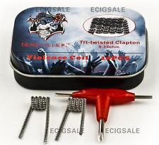 Demon killer Tri-twisted Clapton 0.35 ohm Violence Coil Key Set Box RBA RDA RTA