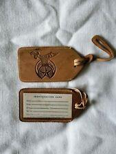 2 Freemason Leather  Luggage Tags - Murat Shriners