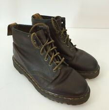 DR MARTENS Sz 6 UK 8 US Brown Leather Lace Up Boots Made In ENGLAND