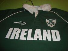 Lansdowne Ireland Polo Rugby Shirt Mens XL Green Short Sleeve