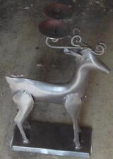 Gently Used Metal Christmas Reindeer Candle Holder - VGC  VERY CUTE DECORATION