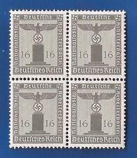 Nazi Germany POST Third 3rd Reich watermark Mi 151 Eagle swastika stamp block