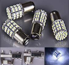 4x Super Bright 1157 BAY15D Xenon White RV Tail Stop Brake Light 64 SMD LED Bulb