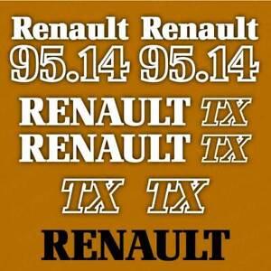 Renault 95.14 TX tractor decal aufkleber adesivo sticker set