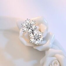 Party Bride Snowflake Earrings Wedding Jewelry Ear Stud Austrian Crystal
