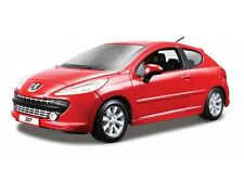 PEUGEOT 207 Red 1:24 scale diecast model die cast vintage car miniature