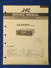 JVC KS-RX1010 Car Audio Cassette Service Manual Factory Original The Real Thing