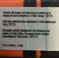 221 Electrodos Soldar INOXIDABLE 316.L-17 - 2,5x350 Soldadura - Hecho en Francia