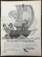ORIGINAL 1968 PRINT AD for IS Savings Bonds New Freedom Shares