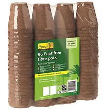Gardman Peat Free Fibre Pots 6cm Round Value Pack (96)