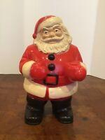 Vintage Christmas Santa Hard Blow Mold Royalite