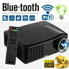 4K 1080P HD Android LCD 3D LED Projector HDMI/USB/AV/VGA/TF Home Theater Cinema