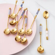 Stainless Steel Tableware Stirring Spoons Dessert Spoons Teaspoons Fruit Fork