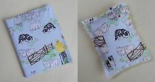 Handmade Needle Books and Pin Cushions. Cotton fabric with a collie print.