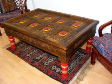 120x80 cm antik-look Afghan Wohnzimmertisch orient Teetisch Tisch Couchtisch NTR