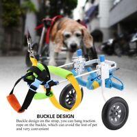 Pet Wheelchair Cart Handicapped Injured Cat Dog Aid Walk Traction Lightweight