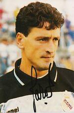 Pedro Jaro real madrid fútbol foto original firmado 365371