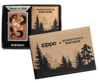 ZIPPO Woodchuck Skull Emblem beidseitig Feuerzeug Neuheit 2020 - 60004938