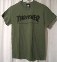 Trasher Skateboard Magazine Army Green Olive T Shirt Size Small see measurements
