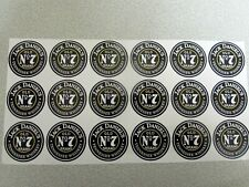 STICKERS JACK DANIELS  N7 OLD BRAND  ROUND 18PCS- 35mm DELIVERY TO WORLDWIDE-NEW