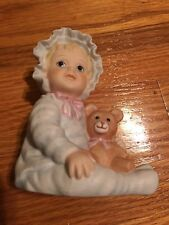 "Masterpiece Porcelain ""1995 Baby'S First Year"" Blone Hair & Blue Eyes Figurine"