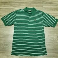 Masters Collection Golf Augusta National Mens Green Striped Polo Shirt Med M