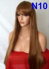 Auburn Fashion Long Straight Full Fringe Party Costume Ladies Women Wig N10
