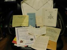Shriner Masonic Apron, Pamphlets, Documents. 1971 Greenville TX Centennial