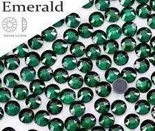 5 mm Gran Calidad Hot Fix/hierro en Esmeralda Flatback Redondo revisión SS20